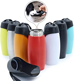 Vivaglory Stainless Steel Dog Water Bottle, 25oz Portable & Leakproof Dog Travel Water Bottle with Large Trough, BPA Free, for Walking & Hiking
