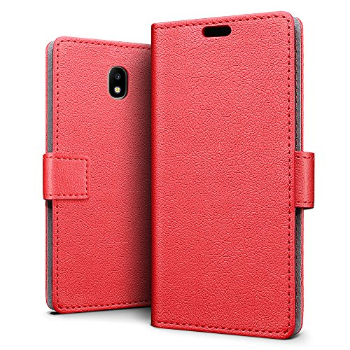 SLEO Custodia per Samsung Galaxy J5 2017(European Version), [Premium Portafoglio Protettiva] Wallet Cover per Samsung Galaxy J5 2017, 2-Scheda Slot,...