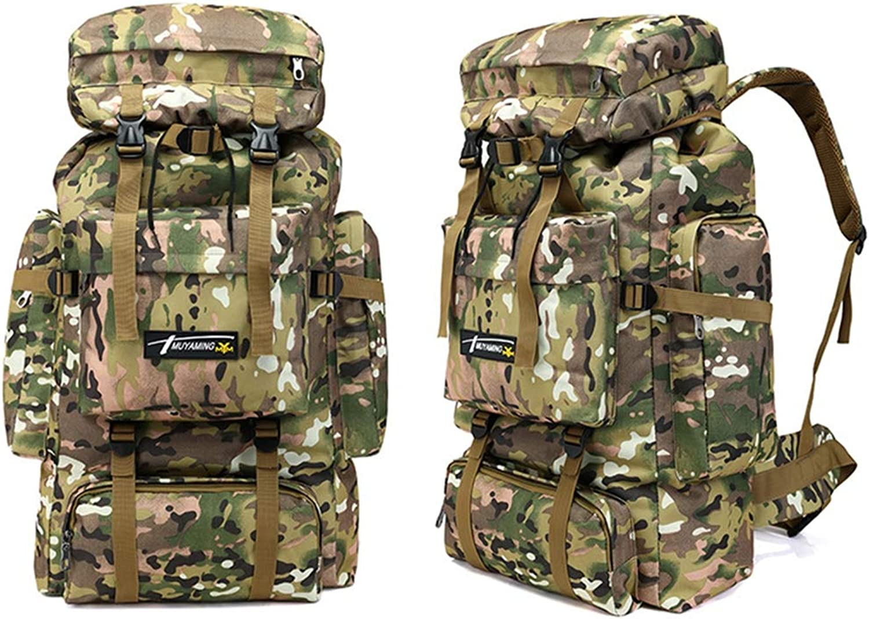 BABI Militrische erweiterbare Reiserucksack Camouflage Camping Wandern Rucksack, Geeignet für Schule, Wandern, Camping, Outdoor-Sportarten, Arbeit, Multi-Farbe optional,1