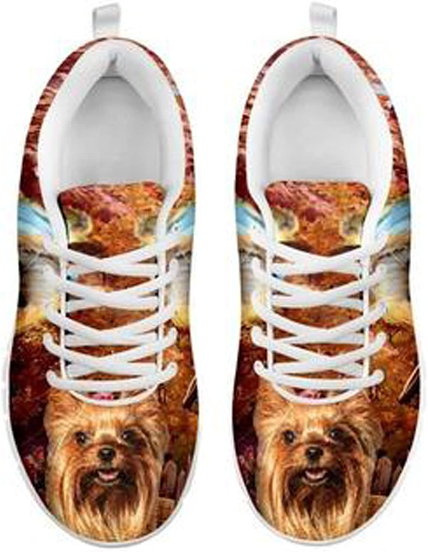 Brand Cute Yorkshire Terrier Dog Print Men's Casual Sneakers (7. 5)