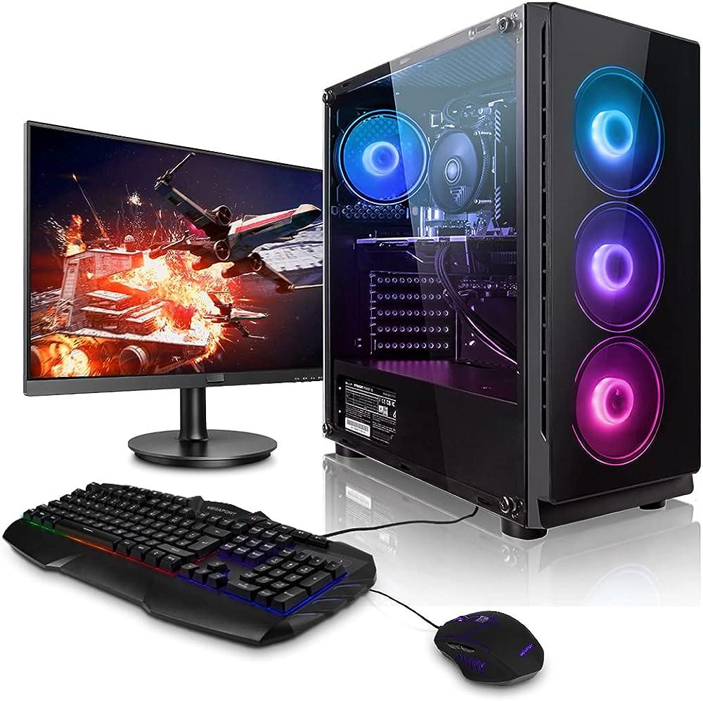 Megaport gaming pc fisso intel core i5 geforce rtx3060 12gb 16gb ram 1tb m.2 ssd piu` monitor 51-IT