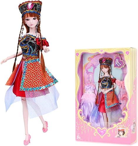 Pop Mode Prinzessin Puppe Ye Luoli Puppe Eis Prinzessin mädchen Spielzeug Hohe 29 CM (Farbe   E)