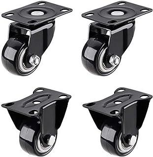 """WSWJ 4 Pack 2 """"Heavy Duty Caster Wielen Polyurethaan Swivel Casters met 360 graden Top Plate 200lbs Totale Capaciteit voor..."""