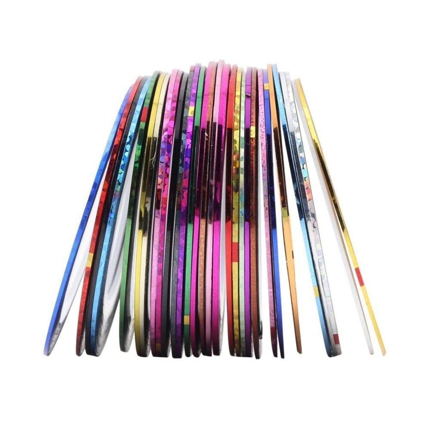 私掃く欠かせないネイル用品 ラインテープ シート ジェルネイル用 マニキュア セット ジェルネイル アート用ラインテープ 専用ケース 38色/セット