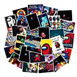 TUHAO Among Us Graffiti Stickers PVC PVC Bright Film Luggage Notebook Water Cup Skateboard Cute Stickers 30Pcs