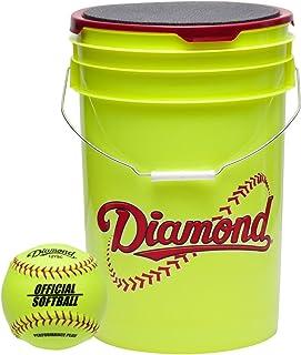 Diamond 官方 Fastpitch 12 岁垒球,带桶 18 个球包 W/鸭子
