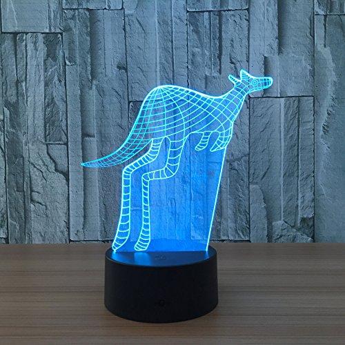 Lámpara de Canguro luz de Noche de Color para niños lámpara de Mesa táctil lámpara de Mesa para Dormir para bebés decoración de Regalo de cumpleaños