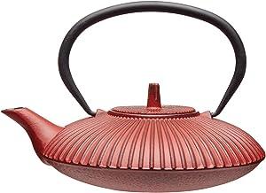 KitchenCraft Le'Xpress żeliwny dzbanek do zaparzania, 600 ml, czerwony