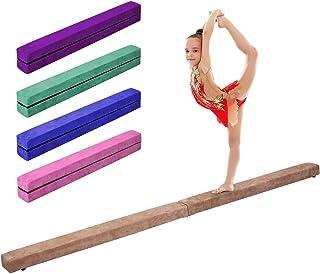 Giantex 7 Ft Balance Beam, Folding Gymnastics Beam w/Non Slip Rubber Base for Kids, Floor Gymnastics Beam for Training, Practice and Professional Home Exercise