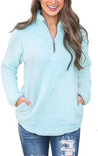 Spadehill Women's Long Sleeve 1/4 Zip Fleece Pullover with Pockets
