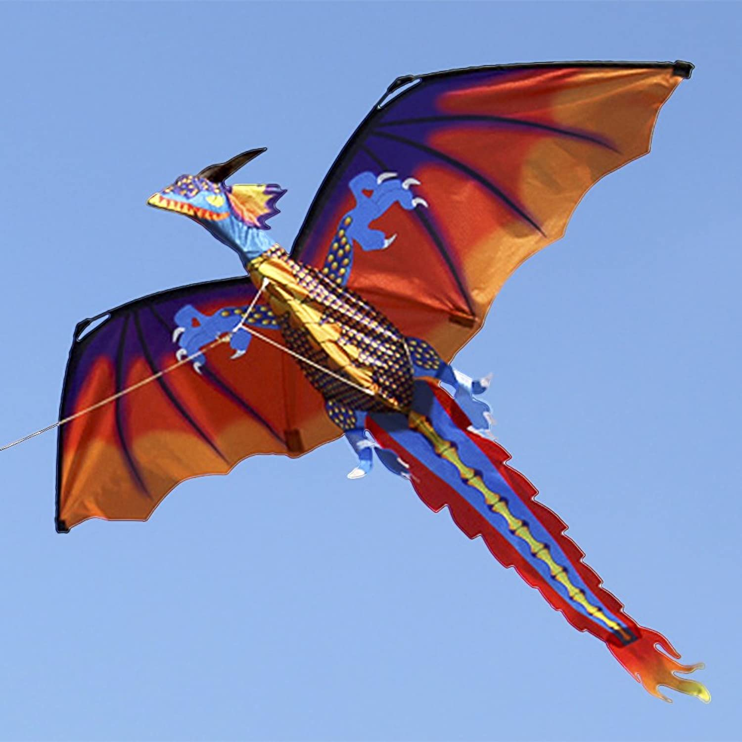 140cx120cm Classical Dragon Kite Single Line with Tail with Handle and Line Good Flying Kites From Hengda Toys