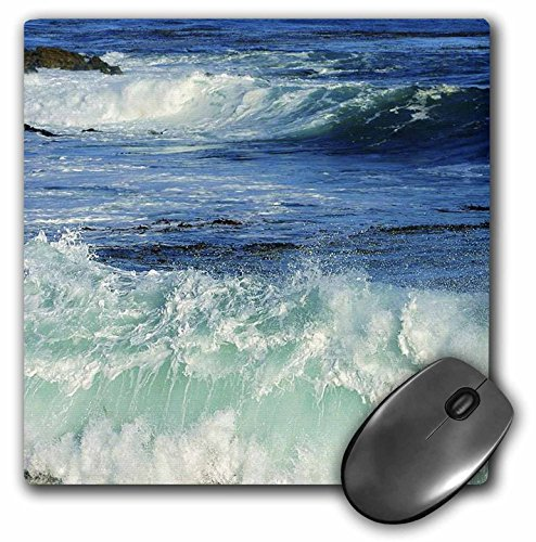 3dRose LLC 8 x 8 x 0.25 Inches Mouse Pad, Pacific Ocean Waves (mp_43784_1)