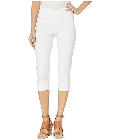 Krazy Larry Pull-On Capri Pants (White) Women