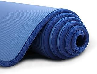LXHDKDT Tapis de Yoga 183X61x1cm Tapis de Yoga Tapis d'exercice antidérapant pour Fitness sans goût Pilates Tapis de Gymna...