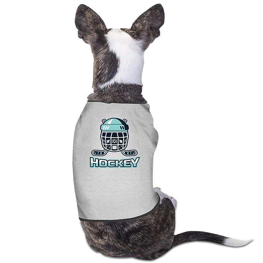 痛みメロンマッシュ袖なし ペット服 犬の服 Tシャツ Hockeyホッケープリント ドッグウェア ロンパース 洋服 タンクトップ 猫服 ペット用品 小中型 S