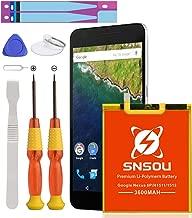 Google Nexus 6P Battery, Upgrade SNSOU 3600mAh Li-Polymer Replacement HB416683ECW Battery for Huawei Google Nexus 6P H1511 H1512 with Repair Replacement Kit Tools [18 Months Warranty]