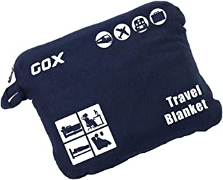 (Navy Blue) - Cosy-Soft Travel Blanket Compact Lightweight Portable with Bag (Navy Blue)