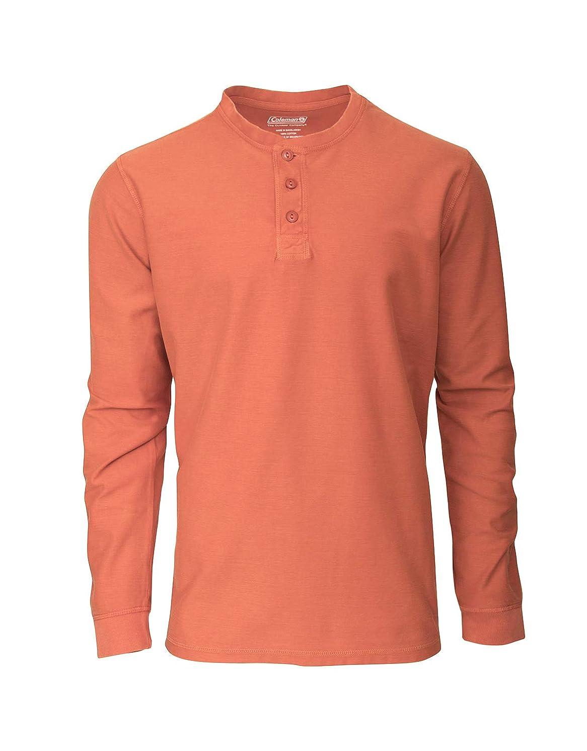 Coleman Long-Sleeve Waffle Henley Thermal Shirts Men