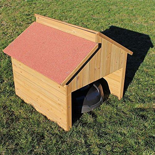 Wiltec Garage für Mährobotor aus Holz für alle gängigen Rasenroboter - 6