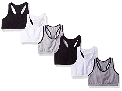 Fruit Of The Loom Cotton Built-up Sport Bra 6 Pack (Pack of 6)