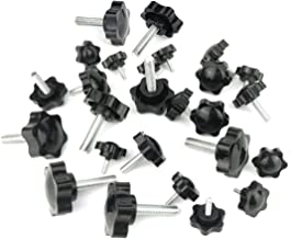 26 Piece Plastic Hex Shaped Hand Knob Tightening Screw Knob Quick Removal Clamping Screw Knob Star Knobs(M4x12mm / M6x20mm / M8x30)