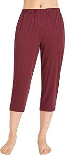 Women's Crop Pants Jersey Capri Pants with Pockets