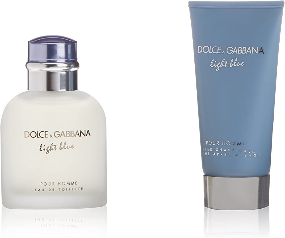 Dolce & gabbana d&g light blue pour homme kit di regalo acqua di colonia,balsamo dopobarba 18193