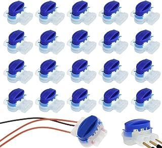 ZoneYan 20 Conectores Conector para Cables, Juego de Reparación para Cables de Robot Cortacésped, Bornes para Cables, Cone...