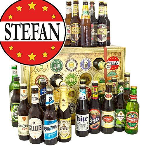 Stefan - Bieradventskalender mit Bieren aus aller Welt und Deutschland - 24 x Biere DE und Welt