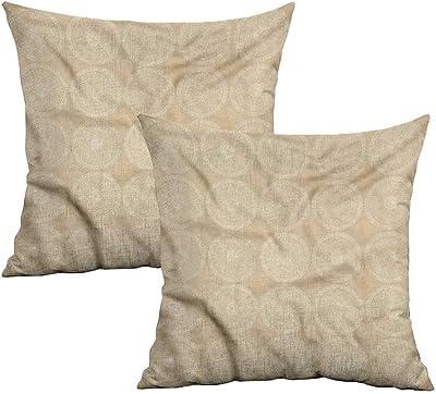Amazon.com: Khaki home Ivory Square Pillowcase Covers with ...