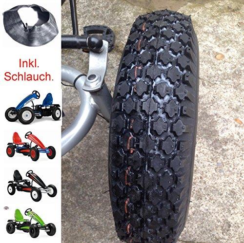 Veloce 1 Stück Gokart Reifen mit Blockprofil inkl. Schlauch 4.80/400-8 Berg Ersatzteil