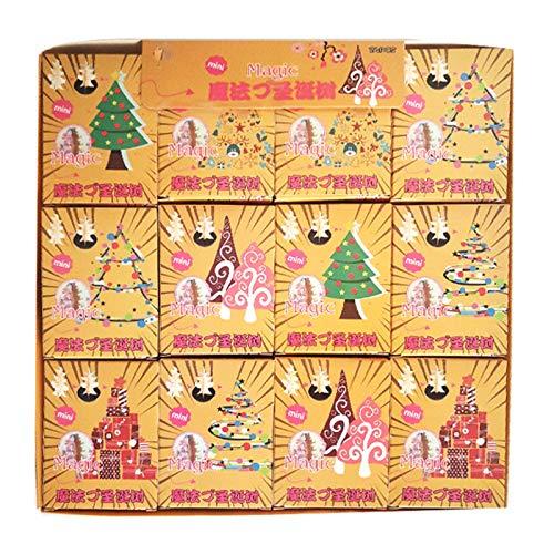 Y-QUARTER 24 peças/conjunto incrível de árvore de Natal em crescimento, enchimento de meias de papel para meninos e meninas, presente de Natal, ornamento de decoração de ciência
