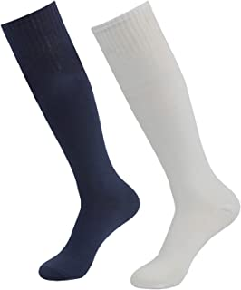 diwollsam Womens Soccer Socks, 2 Pairs Knee High America...