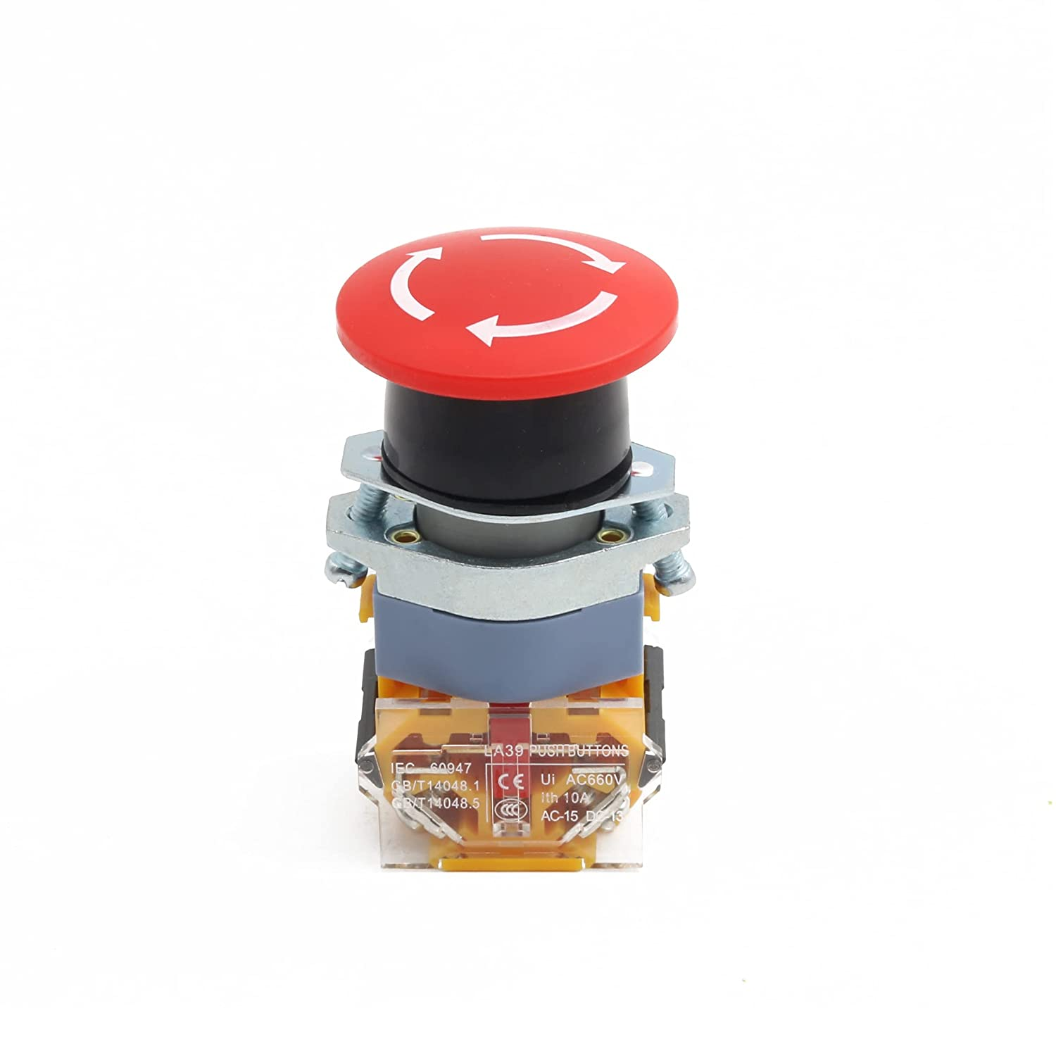 Push Button Switch AC 400V Red Sign E-Stop Mushroom Emergency Rapid rise 22 ! Super beauty product restock quality top!
