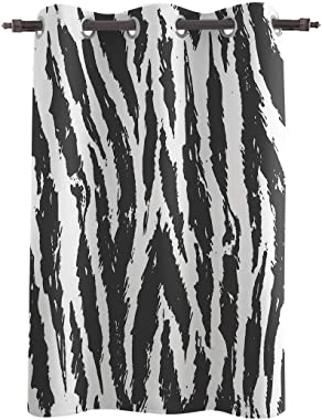 Blackout Curtain Window Drapes Monochrome Zebra Stripe Prints Thermal Insulated Curtains Room Darkening for Living Room Bedro