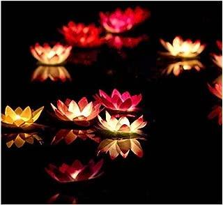 Lilith li Festive Party Solo Pond Water Blew Lamp Wishing Lamp Lotus Flower Lotus Lamp Pray for blessings 20PCS (AH-1)