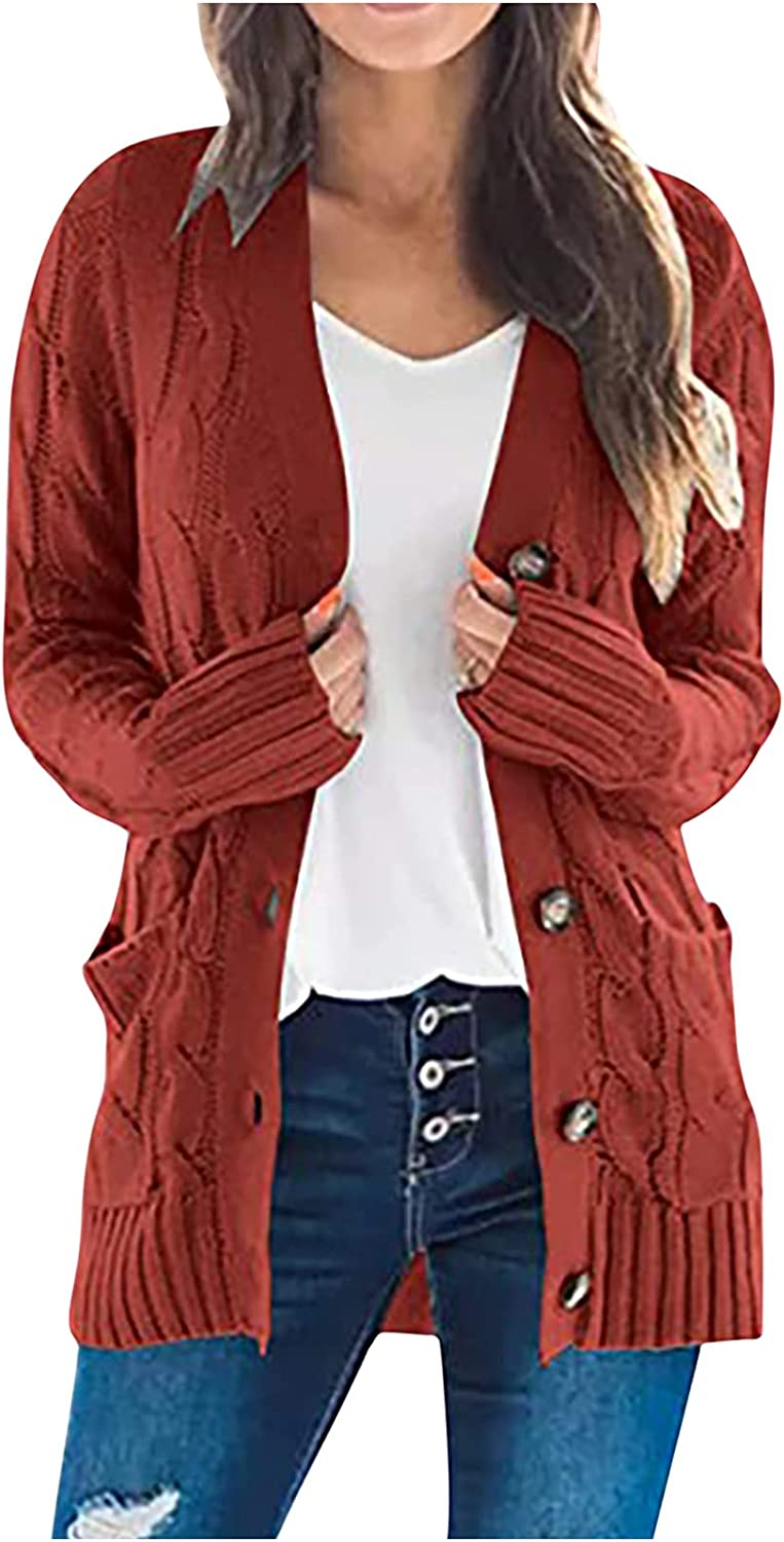 Cardigan Sweaters for Now on sale Women Knit Buttons Sleeve Front Open Soldering Long