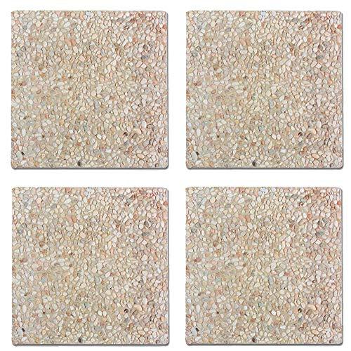 Scaramuzza Modo Serie da 4 Marmette in Cemento, cm. 50x50, per Base Ombrellone, Peso 25 kg Ciascuna