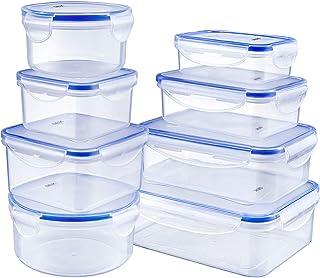 Deik Boîte alimentaire, Set de boîte de conservation alimentaire, Conteneur alimentaire plastique avec couvercles hermétiq...