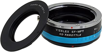 Vizelex ND Throttle Lens Mount Adapter from Fotodiox Pro SL35 Rollei 35 ND2-ND1000 Lens to Micro-4//3 Mount Cameras with Built-in Variable ND Filter