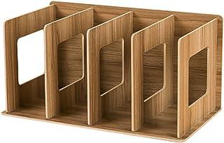 Organizador de madera para CD y DVD Fokom, Crema, 30.5 x 15 x 17cm