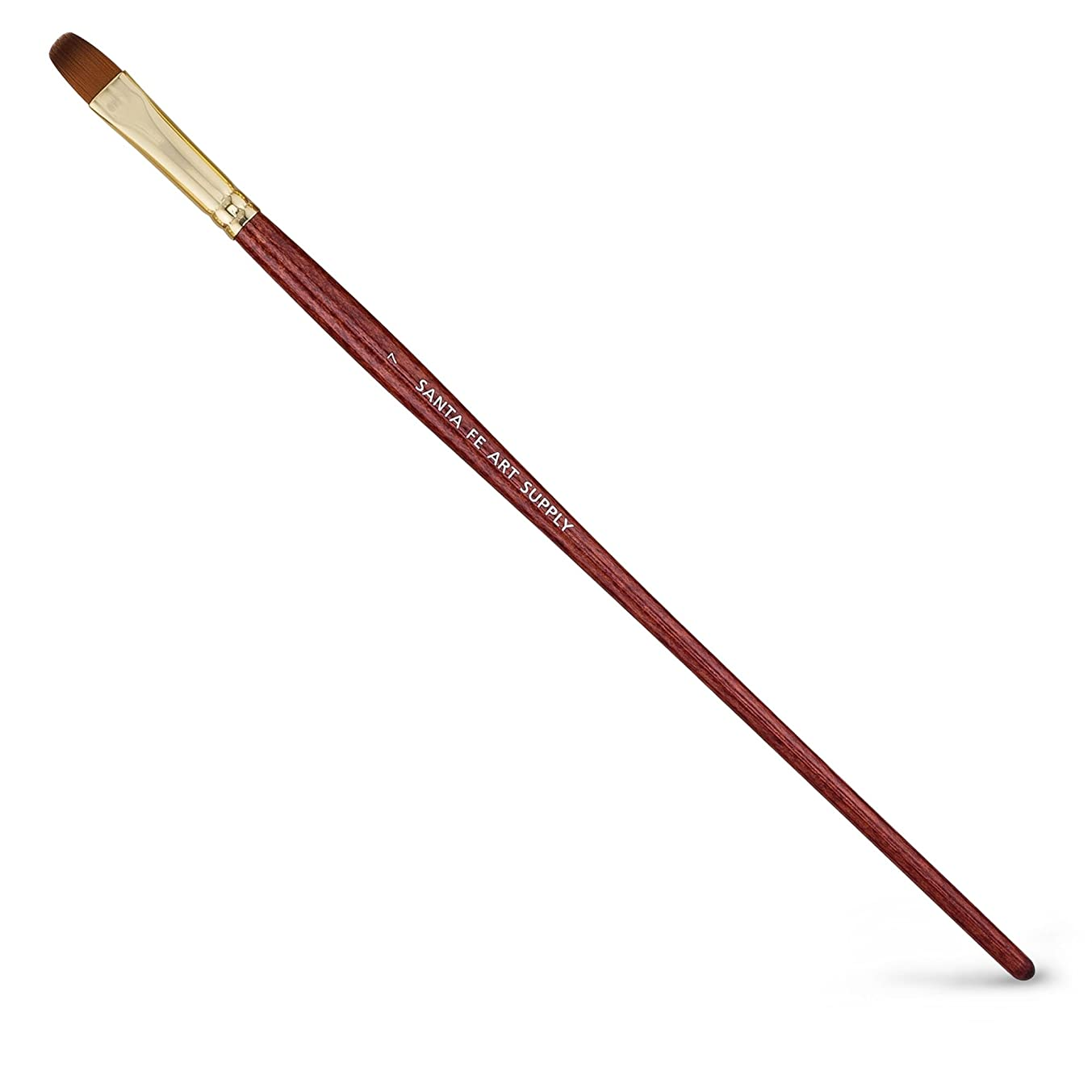 Santa Fe Art Supply Best Quality Artist Paintbrush Filbert Size 7. Acrylic Oil Watercolor & Face Paint. Long Handle Replacement Paint Brushes with
