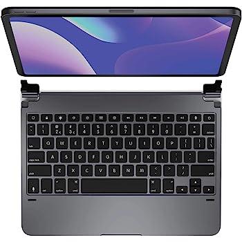 Brydge 11.0 Pro Wireless Keyboard | Compatible with iPad Pro 11-inch (2018 & 2nd Gen, 2020) | Backlit Keys | Long Battery Life | (Space Gray)