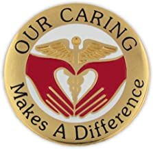 PinMart Our Caring Makes a Difference Nurse Lapel Pin