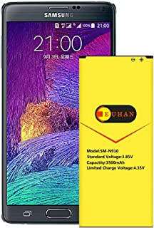 Galaxy Note 4 Battery, Euhan 3500mAh Li-ion Replacement Battery for Samsung Galaxy Note 4 N910, Verizon N910V, AT&T N910A, Sprint N910P, T-Mobile N910T, N910F, Note4 Spare Battery [24 Month Warranty]