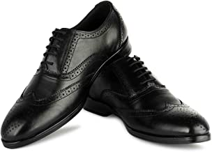 ELITEFFET Men's Genuine Leather Lace Up Formal Brogue Oxford Shoes