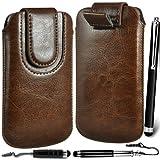 N4U Online Premium PU Leather Pull Flip Tab Case Cover