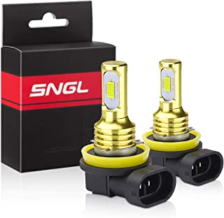 SNGL H11 LED Bulbs 6000k Xenon White Extremely Bright High Power 3,600LM for DRL or Fog Light Lamp Replacement
