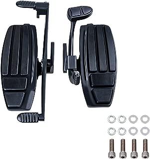 Black Left&Right Driver Foot Board Floorboard Kit Toe Heel Shifter Brake Lever Compatible with Honda 2001-2016 GL1800 F6B 2014-2015 Valkyrie