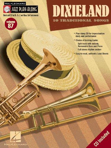 Dixieland - Fluit, Viool, Gitaar, Clarinet, Trompet, Saxofoon, Trombone, akkoorden - BOEK+CD